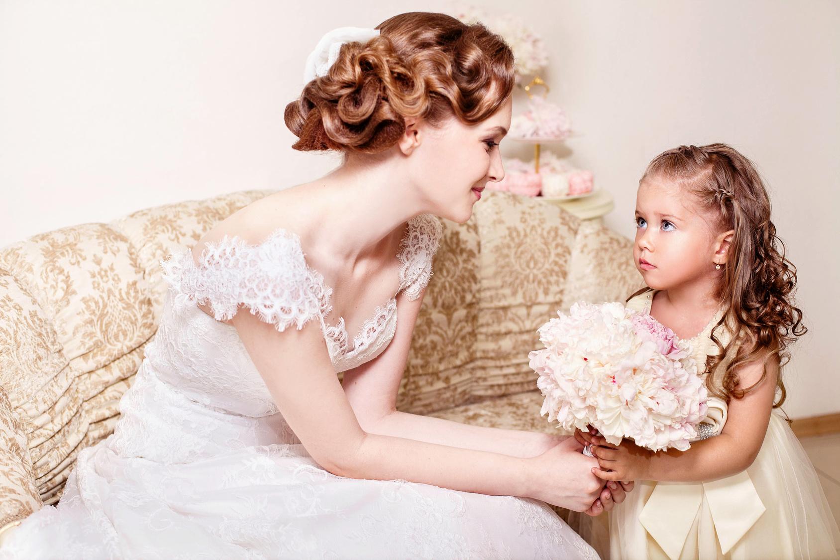 結婚式、子供