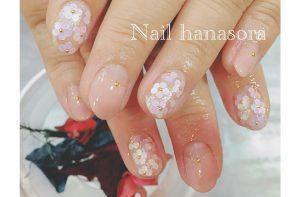 ブライダルネイルギャラリー|淡いピンクの逆フレンチネイル